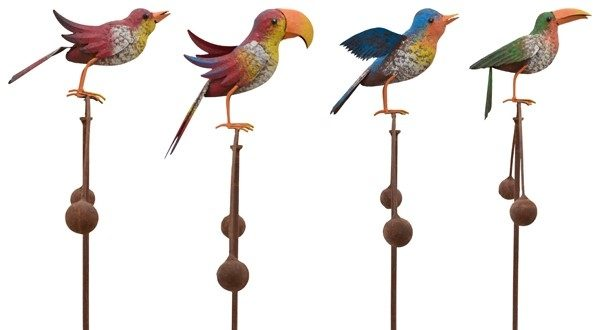 Windspiel Vogel Balancer Bunt - Vogelwippe - Gartenpendel, verschiedene Vogelarten 227098 Spatz|Papagei|Amsel|Rabe