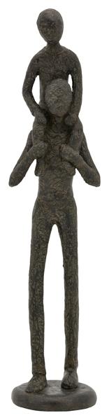 Skulptur Hilda - Vater mit Kind - Dekofigur aus Polyresin - moderne Plastik