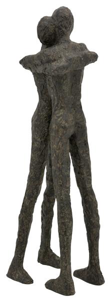 Skulptur Hilda Umarmung Liebespaar - Freundschaft - Dekofigur - moderne Plastik