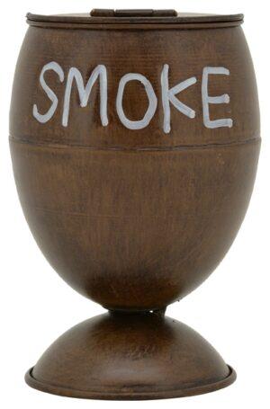 Smoke Aschenbecher Metall - Gartenaschenbecher mit Deckel - Standaschenbecher - Sturmaschenbecher