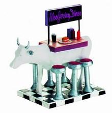 CowParade small Moo Jersey Diner Mini Moo Kuh - Rarität
