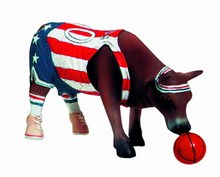CowParade small Bess Bovine Basketball - Rariät - Mini Kuh - Jim Delesave