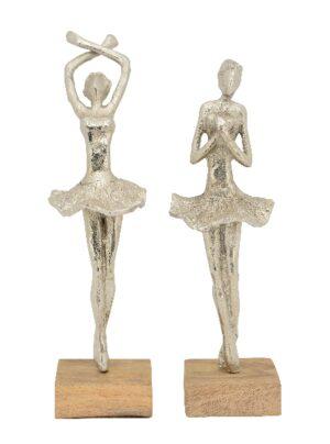 Ballett Skulptur Ballerina, Tänzerin Ballett Artisanal, Alu/Holz