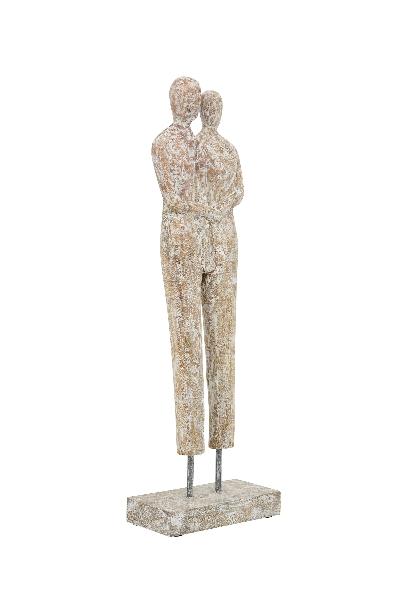 Paar Skulptur Artisanal - Liebespaar 56cm, massiv Holz