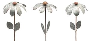 BlumenWindRad ArtFerro, Metallwindrad Blume,118 cm - Windrad in silber
