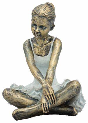 Ballett Skulptur Ballerina Hilda, Tänzerin sitzend, Polyresin
