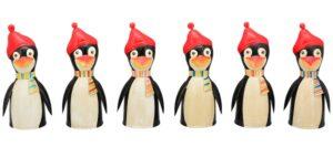 Winter Metall Zaunhocker Pinguin Pfostenhocker Pinguine