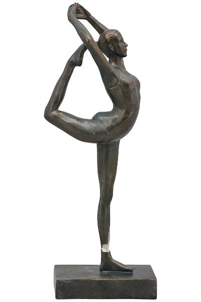 Gymnastikerin Hilda Skulptur - sportliche Frau Dekofigur aus Polyresin
