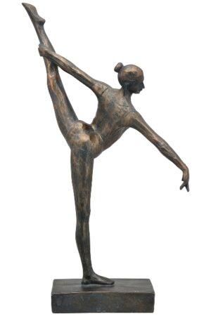 Gymnastikerin Hilda Skulptur - sportliche Frau Dekofigur aus Polyresin - 33cm