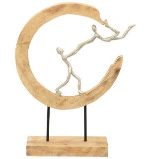 Liebespaar Tanz Skulptur Rock and Roll - Artisanal - Alu Figuren im Holzring