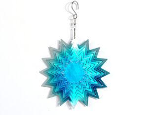 Metallspirale Stern - dreidimensionales Mobile - Metall Stern mit Aufhängung
