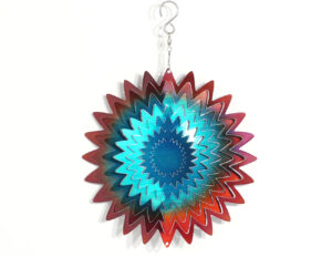 Metallspirale Sonne - dreidimensionales Mobile