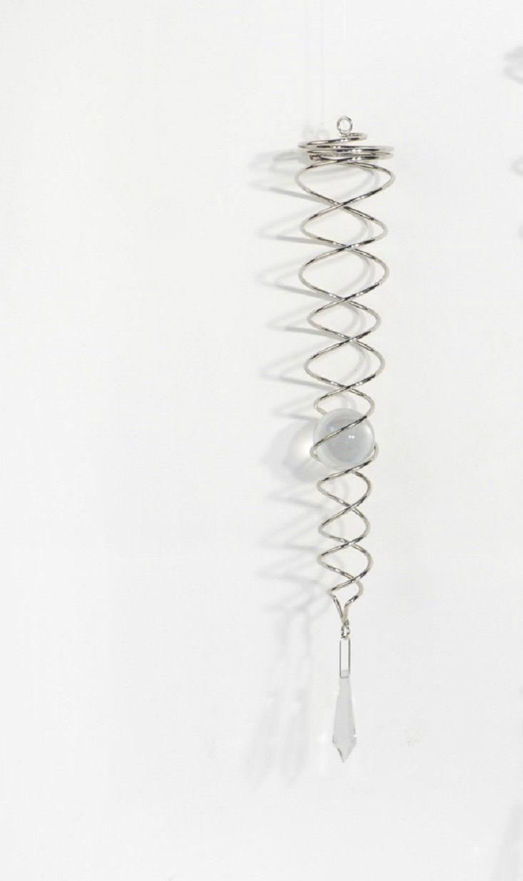 Dekoration Windspiel Spirale Mit Glaskugel Und Bleikristalltropfen U2013 Feng  Shui ...
