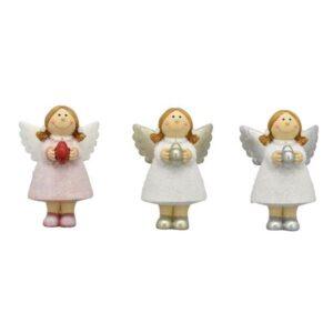 Glitzer Engel mit Herz - Schutzengel Sannie aus Polyresin
