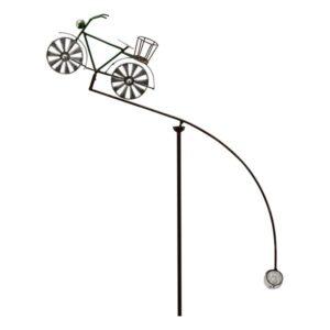 Herrenrad Gartenstecker Windspiel Fahrrad Gartenstecker Balancer - Gartenpendel Rad mit Korb