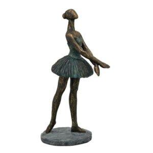 Hilda Frauen Skulptur Ballett Tänzerin - Balletttänzerin in Kupferoptik Patina Tanzskulptur