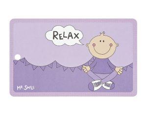 Mila Mr. Smile Relax - Resopal Frühstücksbrettchen mit Loch zum Aufhängen