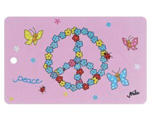 24559 Mila Flower Power Peacezeichen Frühstücksbrettchen Peacezeichen Brettchen Flowerpower