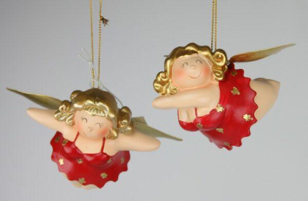 Ballerinerin Molly Engel Betty - Kult Engelsfigur Hänger Baumschmuck - mollige Tänzerin Rubensfigur