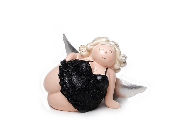 liegender Engel Molly in Modelpose, 15 cm