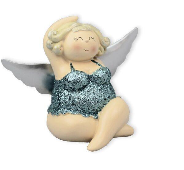 sitzender Engel MollyBallerinerin - Kult Engelsfigur Betty - mollige Tänzerin Rubensfigur