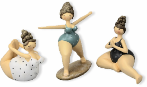 Yogafigur Molly - Rubensmodell - mollige, lustige Frauen sportlich