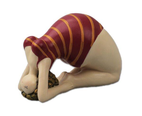 Yogafigur Brücke - Molly Yoga Dame Rubensmodell - mollige, lustige Frauen sportlich