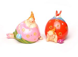 Kugelmädchen - Liegende dicke Damen mit Handtasche - Kugeldame - mollige lustige Frauen 7 cm