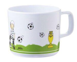 26032 Mila Tooor! Fußball Kinderbecher mit Henkel - Melamin Henkelbecher Fußball