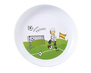 26033 Mila Tooor! Fußball Kinderteller - Melamin Fußball Teller mit Rand