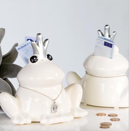 Casablanca Spardose Froschkönig Frosch Figur als Sparschwein 26034-1