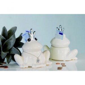 Dekorative Spardose Froschkönig Frosch Figur