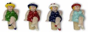 Flaschenkorken Molly, dicke Nanas Korken – Weinverschluss mollige Damen mit Hut