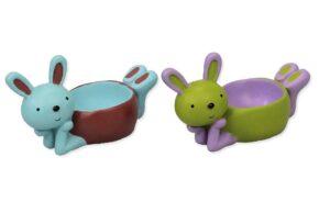 Eierbecher Hase - lustige Häschen Tischdekoration - handbemalt