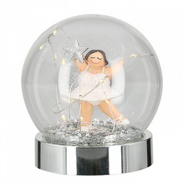 Led Leuchtkugel Engel Betty weiß - Engel Tischleuchter, Batteriebetrieb mit Timerfunktion