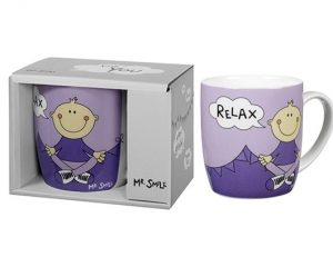 Mr. Smile - Relax Yoga Porzellanbecher in Geschenkbox