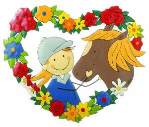 Mila mein Pony - Pferdeliebe - Willkommensschild - Metall