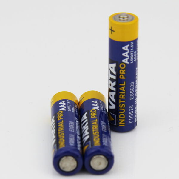 3 x VARTA Industrial Batterie AAA Micro Alkaline Batterien LR03 - Made in Germany