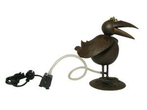 Vogel Wasserspeier Rabe Krähe - Eisenblech - inkl. Schlauch