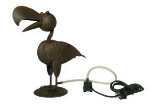 Vogel Wasserspeier Rabe Krähe 38 cm - Eisenblech - inkl. Schlauch