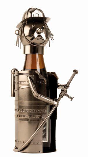 Bier-Flaschenhalter Feuerwehr Skulptur Feuerwehrmann - Piccolo Präsent