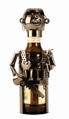 Bier-Flaschenhalter Mechaniker Skulptur Flaschenständer KFZ Schlosser - Handwerker - Klempner