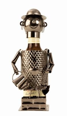 Bier-Flaschenhalter Gärtner Skulptur Flaschenständer aus Metall
