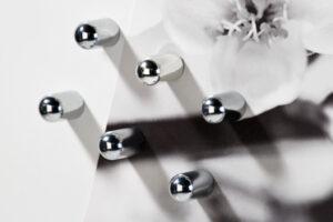 6er Set Power Magnete auf kleiner Magnettafel - Haftmagnet - Kraftmagnet