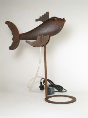 Fisch Nelson Wasserspeier 58 cm - Eisenblech