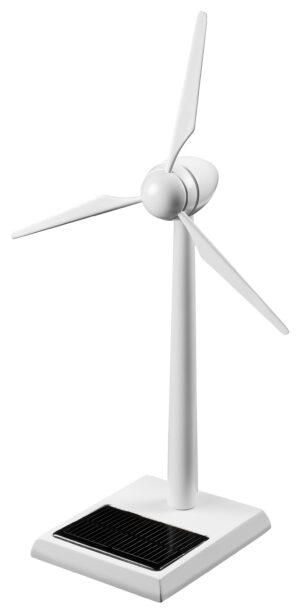 Solar Mühle Windgenerator Holz weiß 30 cm - Bausatz - Windmühle - Enercon - Windkraftanlage - Windturbine - Windenergie