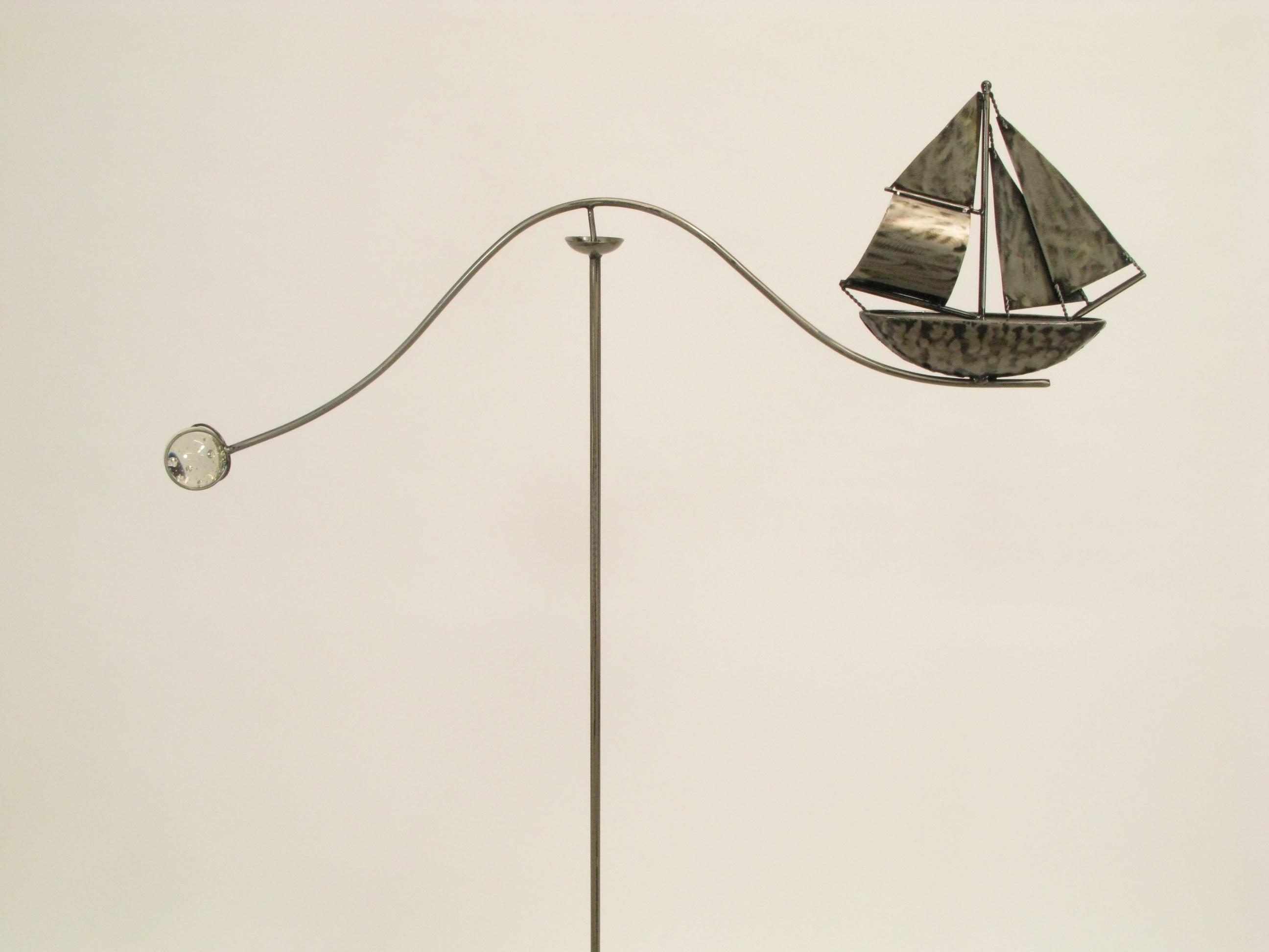 Windspiel gartenstecker schiff skipper gr eres metall for Gartenstecker metall