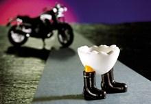 Speedy & Friends Eierbecher Roady der Biker -Rarität- Motorradfahrer Eierbecher