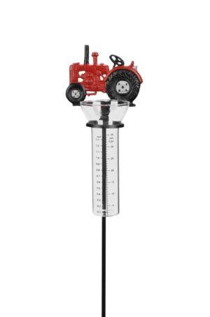 Regenmesser Traktor - Niederschlagsmesser Trecker aus Gusseisen - Gartenstecker Landwirtschaft - Porsche, Massey Ferguson, Schlüter