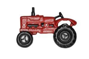 Flaschenöffner Traktor rot, Wandflaschenöffner Trecker aus Gusseisen - Porsche, Massey Ferguson, Schlüter